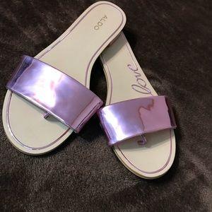 Like New Aldo Pink Metallic Sandals